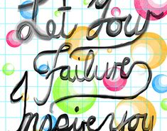 Let Your Failure Inspire You Graphic Design Typography, Working On Myself, New Work, Behance, Inspire, Let It Be, Gallery, Creative, Illustration