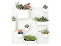 I LOVE THESE! Magnetic, modular indoor planters by Urbio, on display as part of New York Design Week! http://su.pr/2gu3FO