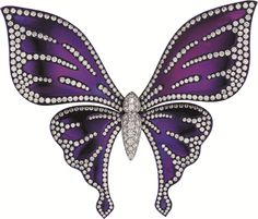 PHILLIPS : NY060112, , A Diamond and Titanium Butterfly Brooch