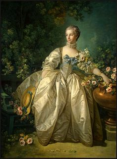 Portraits from 1700's, 18th century Women in opulant clothing Marie Antoinette time period