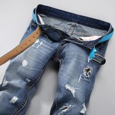 New Arrival Mens Jeans Torn Jeans Holey Ripped Distressed Wash ...