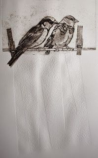 i like this peice because sue brown has kept it simple but interesting i like this one because its bold and the birds are kept very simple. Collagraph, Victorian Art, Gravure, Art Sketchbook, Animal Paintings, Light In The Dark, Printmaking, Screen Printing, Art Prints