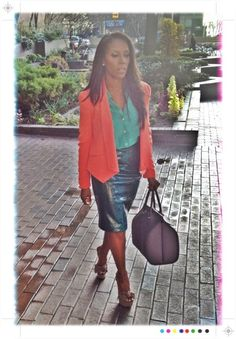 love the mixing of color and textures...don't know where I would be going with this outfit but it is deff. cute!