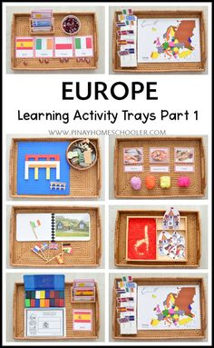 Montessori Inspired Europe Activity Trays for Kids Part I | The Pinay Homeschooler Montessori Trays, Montessori Homeschool, Montessori Practical Life, Montessori Classroom, Montessori Toddler, Montessori Activities, Kindergarten Activities, Educational Activities, Learning Activities