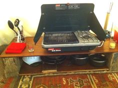 Coleman propane grill and stove