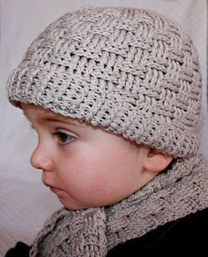 Crochet hat PATTERN (pdf file) - Baby Boy Hat