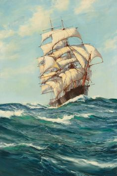 Montague Dawson  The Beautiful Forest Queen  oil on canvas  36 X 24 in.