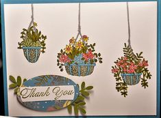 bensarmom by bensarmom - Cards and Paper Crafts at Splitcoaststampers Hanging Gardens, Hanging Succulents, Dandelions, Hero Arts, Hanging Baskets, Homemade Cards, Stampin Up Cards, Paper Design, Your Cards