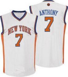 New Player New York Knicks 7 Carmelo Anthony White Jerseys Wholesale Cheap