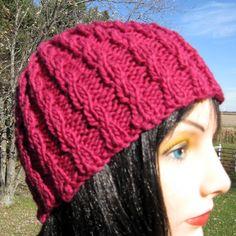 Hand Knit Wool Hat/ Beanie for Men or Women, Mens Cap, Womens Cap by NorthStarAlpacas on Etsy