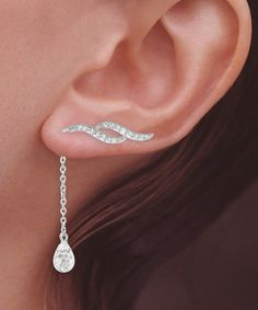 Wave Dangle Earrings ♥