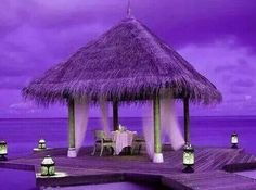 Beautiful for a purple wedding. Purple Love, All Things Purple, Shades Of Purple, Deep Purple, Pink Purple, Purple Stuff, Purple Beach, Purple Sunset, Purple Pages