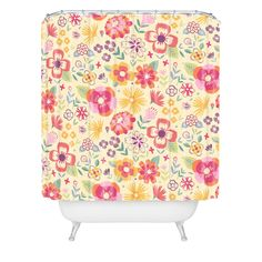 Pimlada Phuapradit Summer Bloom I Shower Curtain | DENY Designs Home Accessories