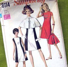 1960s Vintage Sewing Pattern  Mod Princess Seamed by SelvedgeShop, $10.00