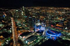 Night Flight Over Downtown Los Angeles (#LASD Photo by C.Miller)
