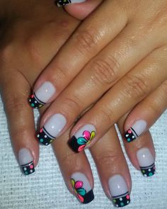 French Manicure Nail Designs, French Nail Art, French Tip Nails, Toe Nail Designs, Cute Nail Art, Cute Nails, Pretty Nails, Crazy Nails, Fancy Nails