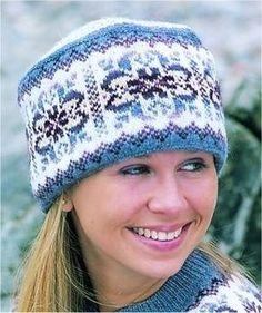 Fair Isle Hat                                                                                                                                                                                 More Fair Isle Knitting Patterns, Fair Isle Pattern, Knitting Designs, Knit Patterns, Wooly Hats, Knitted Hats, Crochet Hats, Bonnet Crochet, Crochet Wool