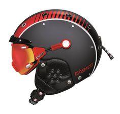 Brand New Casco premium protection Airwolf Racing Black/Red ski snowboarding helmet for Men and Women Ski Helmets, Football Helmets, Airsoft Goggles, Alpine Skiing, Helmet Design, Winter Sports, Snowboarding, Bicycle Helmet, Industrial Design