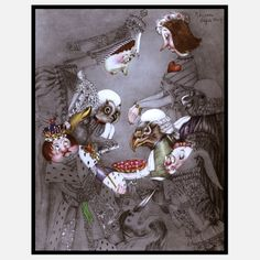 Alice In Wonderland Framed I, $119, now featured on Fab.