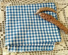 Check out this item in my Etsy shop https://www.etsy.com/listing/265751307/retro-blue-gingham-material-vintage