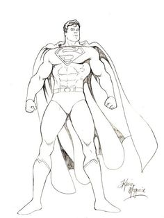 Kevin Maguire Superman Drawing, in Wallace Harrington's Superman Comic Art Gallery Room Superman Drawing, Superman Artwork, Drawing Superheroes, Superman Comic, Superman Stuff, Drawing Artist, Drawing Sketches, My Drawings, Superman Wonder Woman