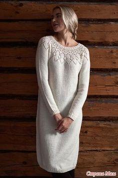 . Платье спицами от Lea Petaja женское и девчачье