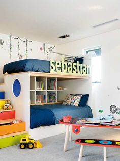 loft bed... but nook beneath instead of bed?