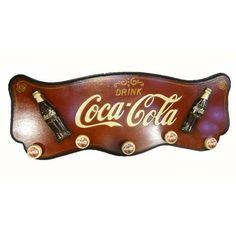 Coca Cola Coat Rack Bar & Man Cave Wall Ornament Hanging