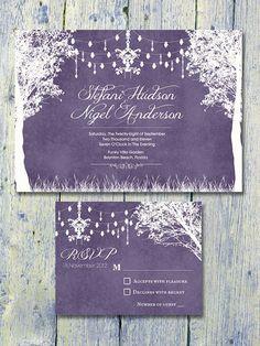 Wedding Ideas By Colour: Purple Wedding Stationery   CHWV