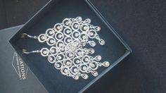 vnc0050 oorbel hanger met crystal steentjes