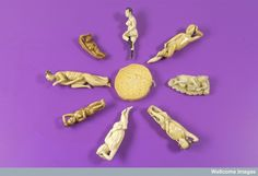 Diagnostic Dolls, used by women patients to indicate areas of affliction to their doctors. Wellcome Collection, Free Museums, Vintage Medical, Pregnancy Care, White Jade, Antique Chairs, Medical History, The Cure, Vintage Items