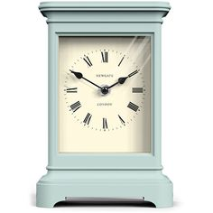 Newgate Clocks Library Clock - Mint Ice Cream ($89) ❤ liked on Polyvore featuring home, home decor, clocks, decor, filler, green, mantel clocks, roman numeral clock, green clock and newgate