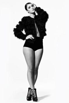 "Model Lucy Nettlefold of Bella Model Management in ""Black & White"" test shoot, March 2012."