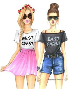 'Are you from the East coast or a West coast?' @rongrong_devoe_illustration| shop on etsy: bit.ly/RongrongIllustration| Be Inspirational ❥|Mz. Manerz: Being well dressed is a beautiful form of confidence, happiness & politeness