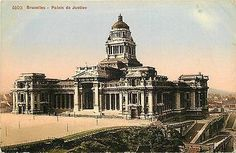 Brussels Belgium 1908 Palace of Justice Collectible Antique Vintage Postcard