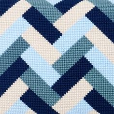 Store Rallen Broderi Pude Uldbroderigarn Braided Rag Rugs, Bargello, Needlepoint, Stitch Patterns, Diy And Crafts, Cross Stitch, Quilts, Embroidery, Sewing