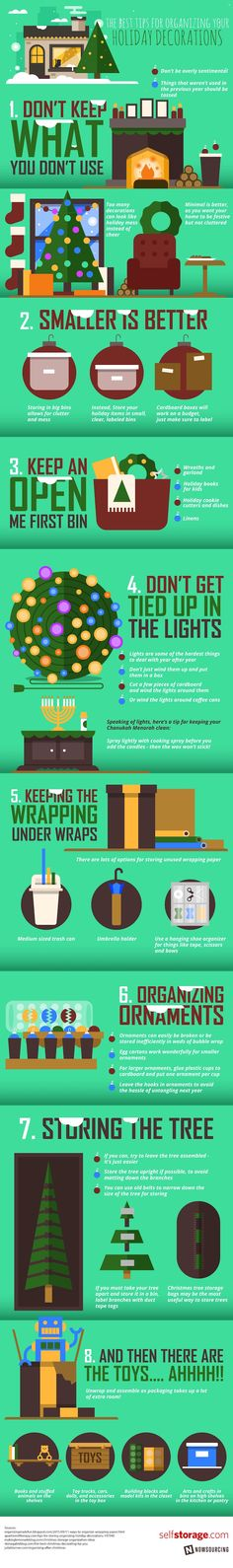 Tips to Organize Your Holiday Decorations Quick and Efficiently - TIPS�GRAPHIC