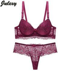 8cb221cca98f Women Bra Thong Set Bra Brief Set Hollow Out Underwear Panty Set Intimates  Bra #fashion
