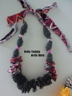 Handmade necklace  Collana fatta a mano riciclo creativo  TUTORIAL: YES