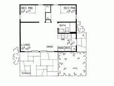 480 sq ft Cottage , 2 Bedroom , 1 Story