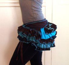 Wrap Ruffle Bustle Skirt