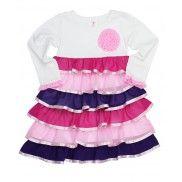 RuffleButts.com - Rainbow Ruffled Tee Dress #RuffleButts
