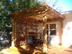 Shade structure & deck idea