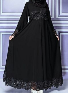 مدل جدید مانتو مشکی برای مراسم و مجالس ( بیش از 100 مدل (Dengan gambar) Iranian Women Fashion, Islamic Fashion, Muslim Fashion, Abaya Fashion, Fashion Dresses, Abaya Designs Latest, Hijab Elegante, Estilo Abaya, Hijab Style Dress