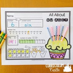 All About My Age! This is such a cute number sense activity where students can show their age in a variety of ways.