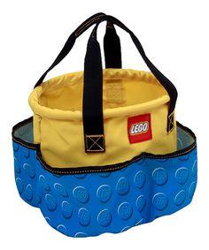 LEGO Blue & Yellow Toy Bucket #zulily #zulilyfinds