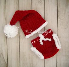 Baby Santa Outfit, Newborn Santa Outfit, Baby Christmas Outfit, Crochet santa outfit, Christmas Photo Outfit, Baby's first Christmas by Amaiahandmade on Etsy