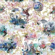 Christian Lacroix Reveries Tomette Wallpaper