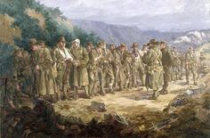 The roll call after a battle was 'always a most heart-breaking incident. Name after name would be called; the reply a deep silence'. This is a detail from painting, Roll Call,  by Ellis Silas . [AWM ART02436]  The numbers killed in the Gallipoli campaign were heavy, over 100,000 men.   The Allies  lost  56,707 men  and the Ottoman Empire 56,643.  The Allies losses were made up as follows    United Kingdom 34,072     France  9,798      Australia 8,709      New Zealand 2,721     British India…