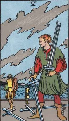 Tarot Card Cross-reference--Five of Swords